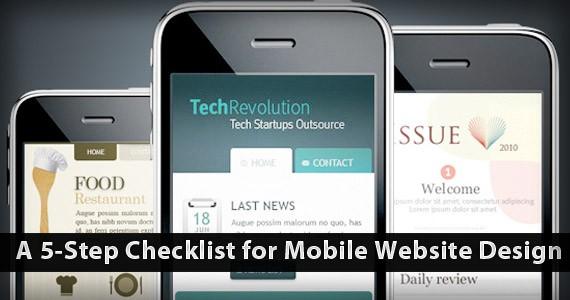 A 5-Step Checklist for Mobile Website Design