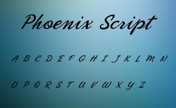 Phoenix-script-fresh-free-fonts-2011