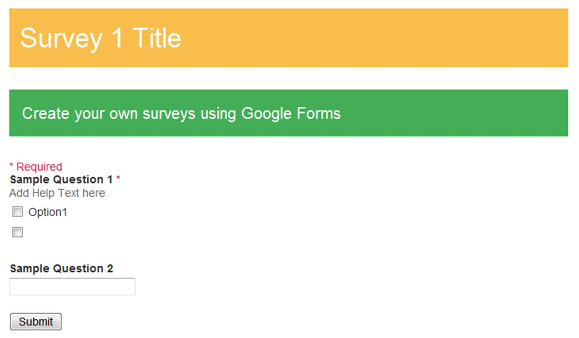 Survey customers with Google Forms