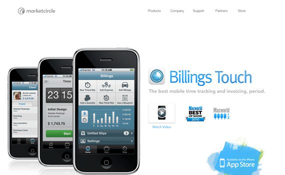Billings-iphone-app-web-design-inspiration