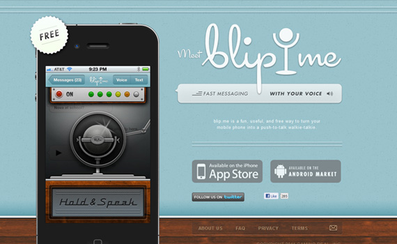 Blipme-iphone-app-web-design-inspiration