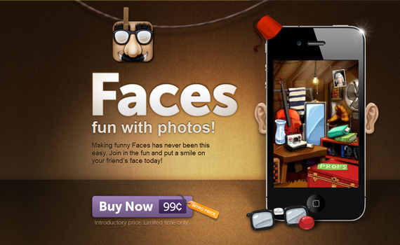 Faces-iphone-app-web-design-inspiration