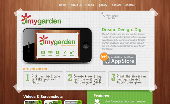 Imygarden-iphone-app-web-design-inspiration