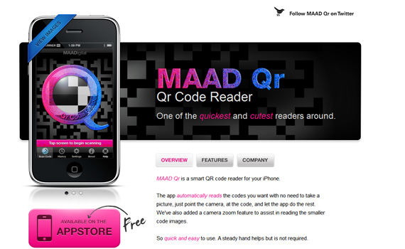 Maad-qr-iphone-app-web-design-inspiration