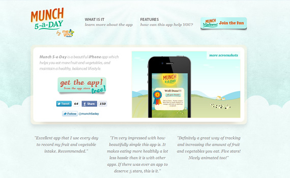 Munch-iphone-app-web-design-inspiration