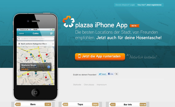 Plazaa-iphone-app-web-design-inspiration