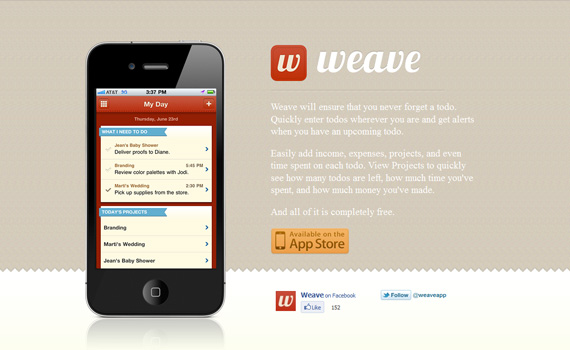 Weave-iphone-app-web-design-inspiration