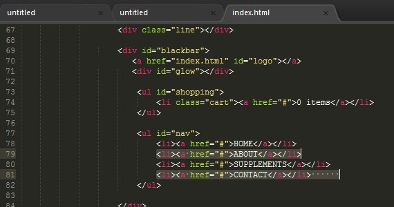 Sublime Text - Multiple selections
