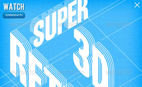 Retro-3d-lines-premium-photoshop-actions