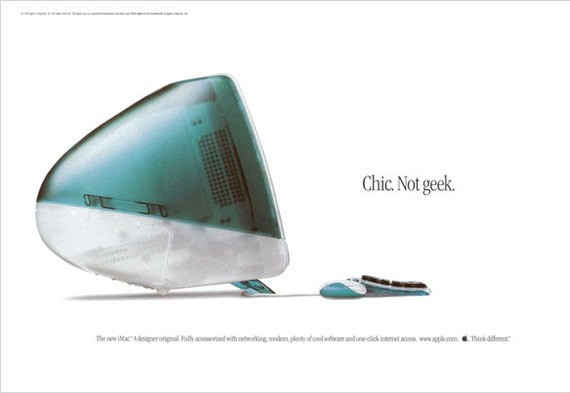 Advertisement for the Apple iMac. (Image from Tony Olsen)