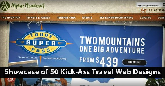 Showcase of 50 Kick-Ass Travel Web Designs