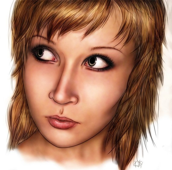 Self-portrait by KittyElektro
