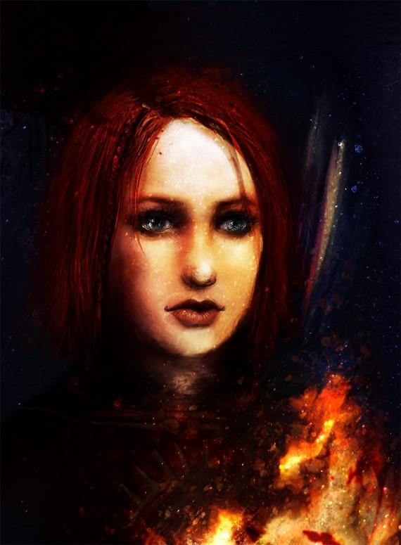 Leliana Fire by firefly-wp