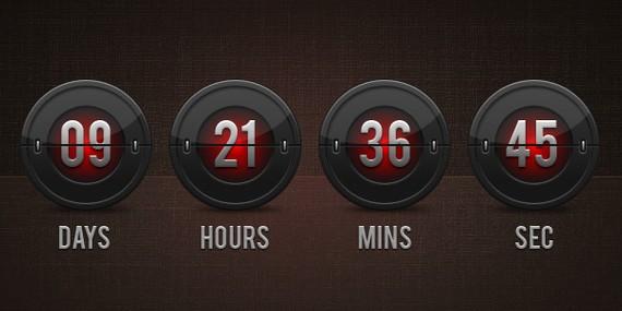 Flip clock countdown