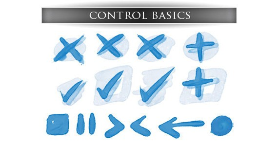 Basic control icons