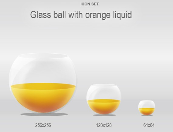 Glass ball with liquid