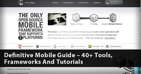 Definitive Mobile Guide – 40+ Tools, Frameworks And Tutorials