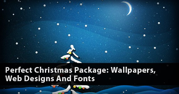 Perfect Christmas Package: Wallpapers, Web Designs And Fonts