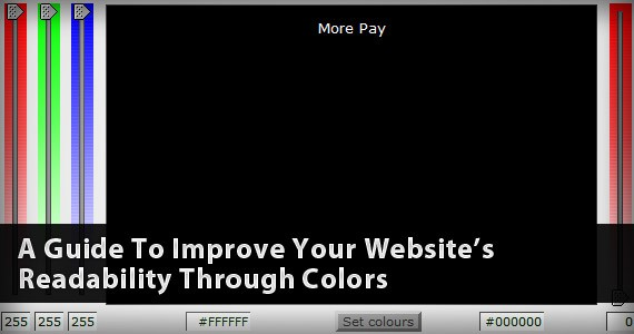 A Guide To Improve Your Website's Readability Through Colors