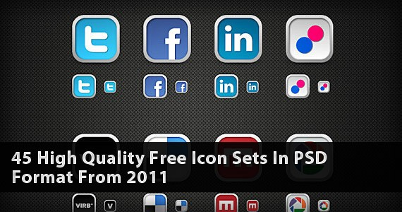 45 High Quality Free Icon Sets In PSD Format From 2011