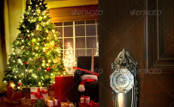 Door-room-christmas-winter-premium-backgrounds