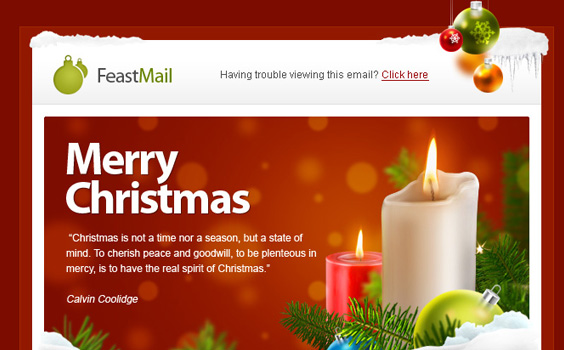 Christmas greeting emailtemplates reheart Gallery