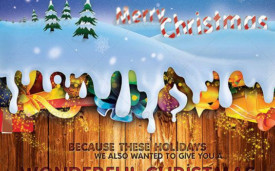 Flyer-postcard-christmas-winter-premium-backgrounds