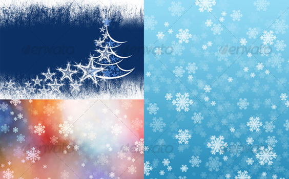 Pack-christmas-winter-premium-backgrounds