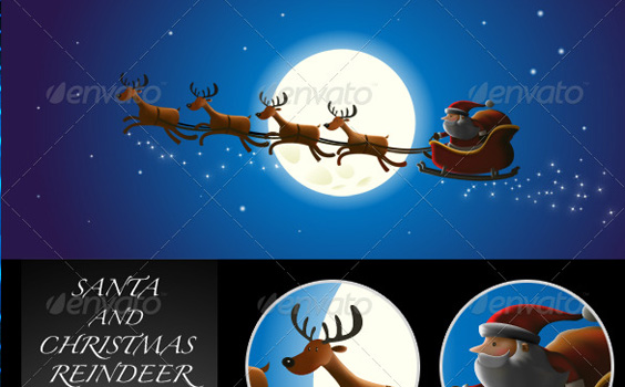 Santa-reindeer-christmas-winter-premium-backgrounds