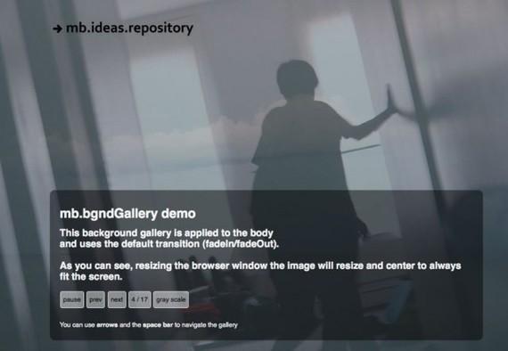 jQuery MB Bgnd Gallery