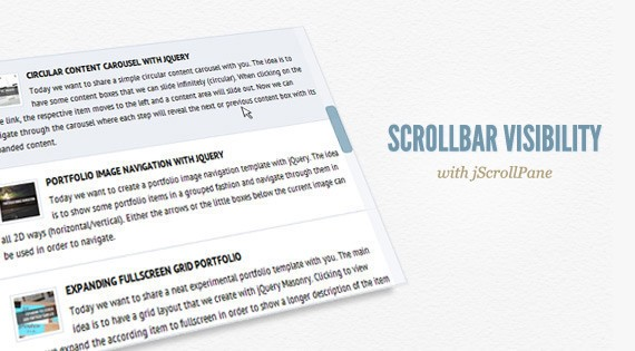 Scrollbar Visibility with jScrollPane