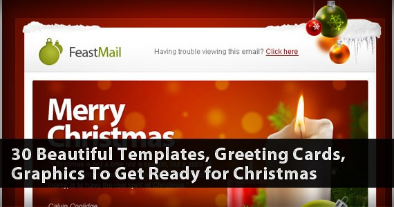 30 Beautiful Templates, Greeting Cards, Graphics To Get Ready for Christmas