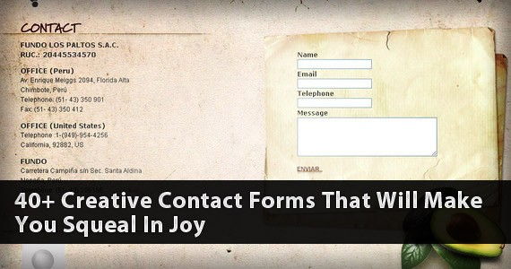40+ Creative Contact Forms That Will Inspire You