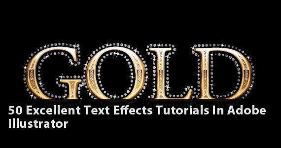 50 Excellent Text Effects Tutorials in Adobe Illustrator