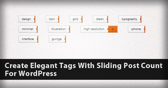 Create Elegant Tags With Sliding Post Count For WordPress