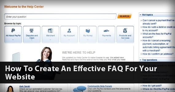 How To Create An Effective FAQ For Your Website