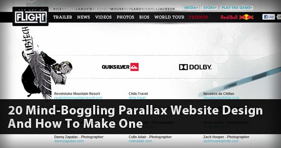 20 Mind-Boggling Parallax Website Design And How To Make One