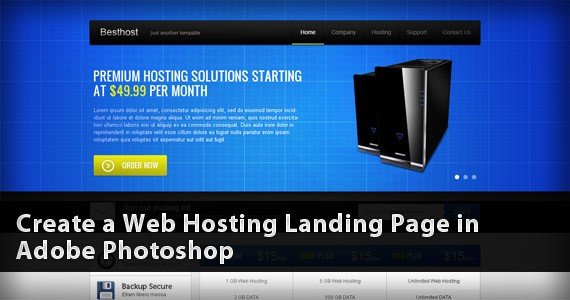 Create a Web Hosting Landing Page in Adobe Photoshop