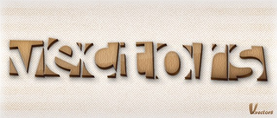 How to Make a Wooden Text Effect