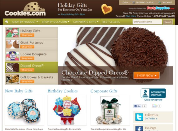 Cookies-15-Eye-Catching-Food-Beverage-Ecommerce-Website-Designs