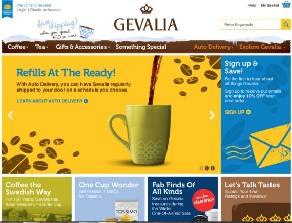 Gevalia-Coffee-15-Eye-Catching-Food-Beverage-Ecommerce-Website-Designs