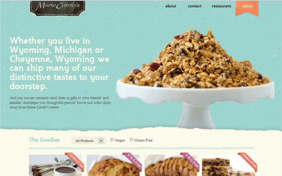 Marie-Catribs-15-Eye-Catching-Food-Beverage-Ecommerce-Website-Designs