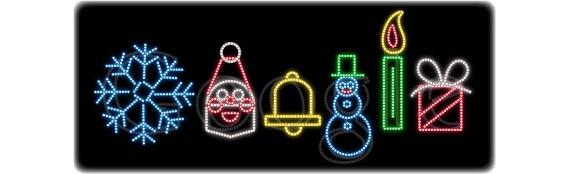String Lights Doodle : The Visual History of Google s Doodles - 1stWebDesigner