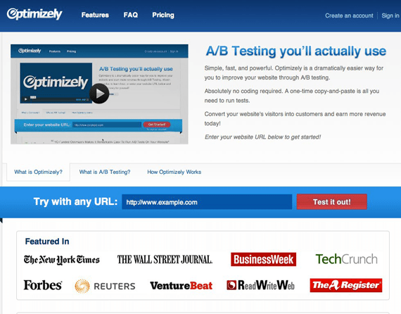 Optimizely ab testing landing pages guide