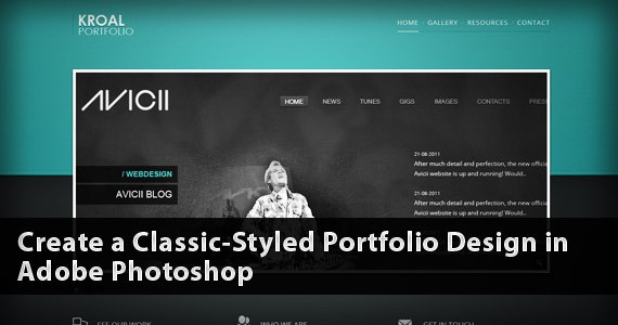 Create a Classic-Styled Portfolio Design in Adobe Photoshop