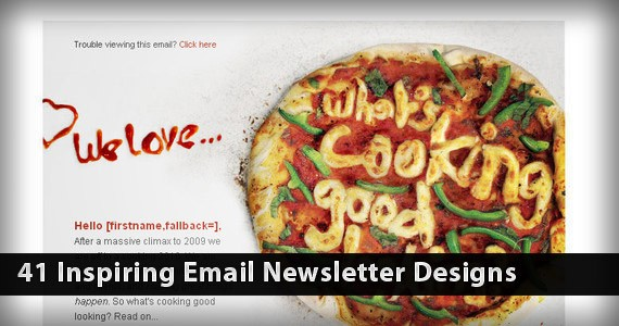 41 Inspiring Email Newsletter Designs