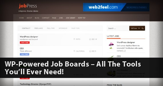 WP-Powered Job Boards – All The Tools You'll Ever Need!