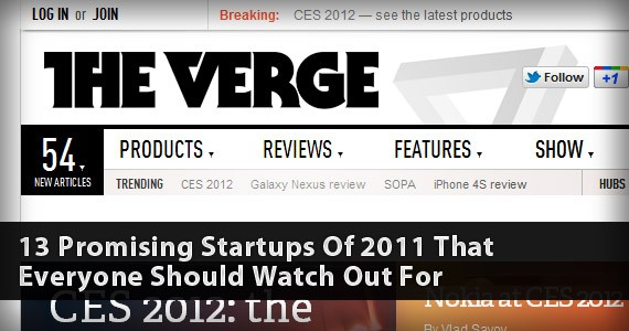 13 Promising Startups of 2011 that Everyone should Watch Out For