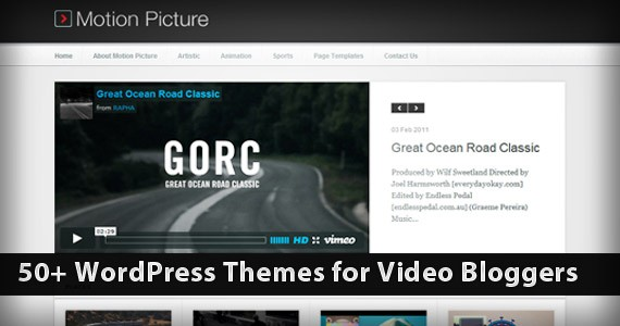 50+ WordPress Themes for Video Bloggers
