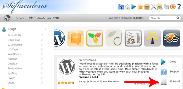 Wpwebhost-softaculous-install-wordpress